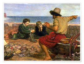 Póster  Los chicos de Raleigh - Sir John Everett Millais