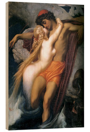 Cuadro de madera  The Fisherman and the Syren - Frederic Leighton