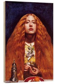Cuadro de madera  The bridesmaid - Sir John Everett Millais