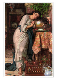 Póster  Isabella y el jarrón de albahaca - William Holman Hunt