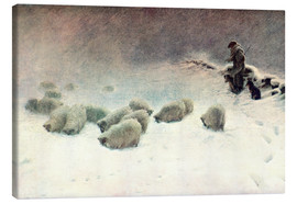 Lienzo  The Cheerless Winter's Day - Joseph Farquharson