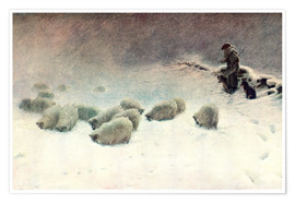 Póster  The Cheerless Winter's Day - Joseph Farquharson