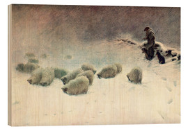 Cuadro de madera  The Cheerless Winter's Day - Joseph Farquharson