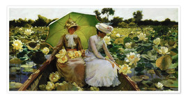 Póster  Lotus Lilies - Charles Courtney Curran