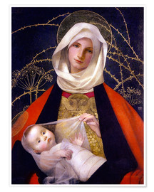 Póster  Madonna and Child - Marianne Stokes