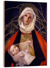 Cuadro de madera  Madonna and Child - Marianne Stokes