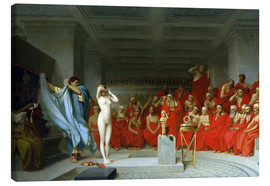 Lienzo  Phryne before the Areopagus - Jean Leon Gerome