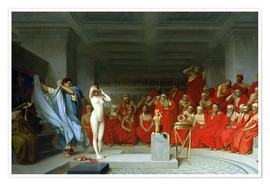 Póster  Phryne before the Areopagus - Jean Leon Gerome