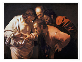 Póster  The Doubting Thomas - Michelangelo Merisi (Caravaggio)