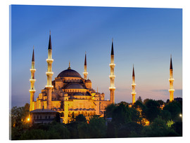 Cuadro de metacrilato  Blue Mosque at twilight - Circumnavigation