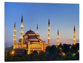 Cuadro de PVC  Blue Mosque at twilight - Circumnavigation