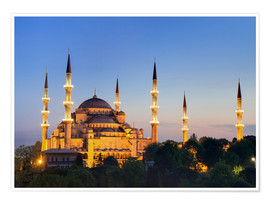 Póster  Blue Mosque at twilight - Circumnavigation