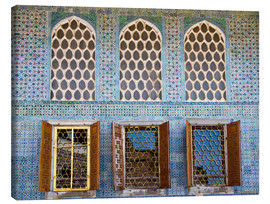Lienzo  Islamic windows of the Topkapi palace - Circumnavigation