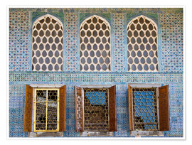 Póster Islamic windows of the Topkapi palace