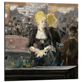 Cuadro de aluminio  Bar at the Folies Bergère - Edouard Manet