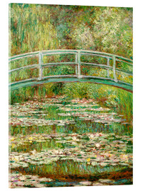 Metacrilato  the japanese bridge - Claude Monet
