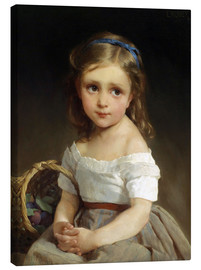 Lienzo  Girl with plums Basket - Emile Munier