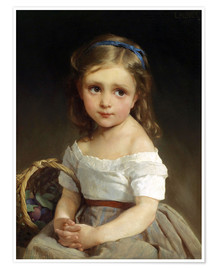 Póster  Girl with plums Basket - Emile Munier