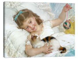 Lienzo  Little girl with kitten - Emile Munier
