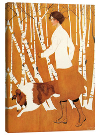 Lienzo  Birches - Clarence Coles Phillips