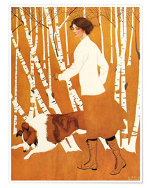 Póster  Birches - Clarence Coles Phillips