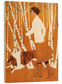 Cuadro de madera  Birches - Clarence Coles Phillips