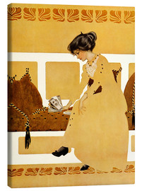 Lienzo  Discarding from strength - Clarence Coles Phillips