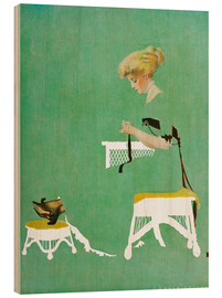 Cuadro de madera  Home ties - Clarence Coles Phillips