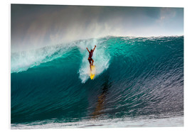 Cuadro de PVC  Extreme surfing huge wave - Mentawai Islands - Paul Kennedy