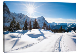 Lienzo  Winter scenery at Grindelwald - Peter Wey