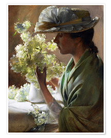 Póster Lady with a bouquet (Snowballs)