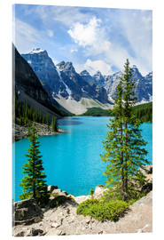 Cuadro de metacrilato  Moraine Lake in the valley of ten peaks, Banff National Park, Alberta, Canada - Peter Wey