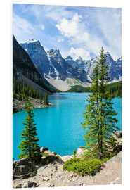 Cuadro de PVC  Moraine Lake in the valley of ten peaks, Banff National Park, Alberta, Canada - Peter Wey