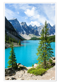 Póster Moraine Lake in the valley of ten peaks, Banff National Park, Alberta, Canada
