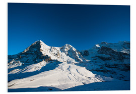 Cuadro de PVC  Panoramic view from Lauberhorn with Eiger Mönch and Jungfrau mountain peak - Peter Wey