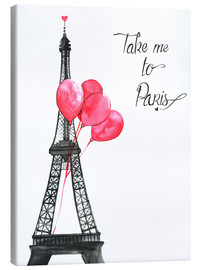 Lienzo  Take me to Paris - Rongrong DeVoe