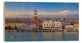 Cuadro de madera  Venice view to the Alps - FineArt Panorama