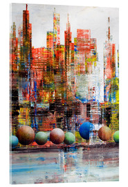 Cuadro de metacrilato  Manhattan, abstract - Gerhard Kraus