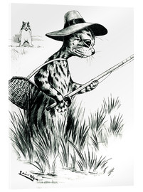 Cuadro de metacrilato  Cat fishing - Louis Wain