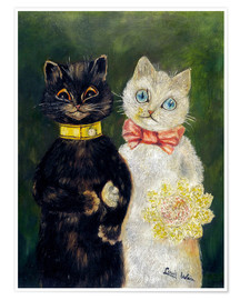 Póster  Cats Wedding - Louis Wain