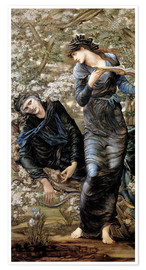 Póster  Merlín el encantador - Edward Burne-Jones