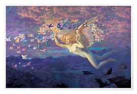 Póster  Wings of the Morning - Edward Robert Hughes