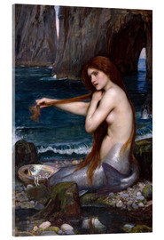Cuadro de metacrilato  La sirena - John William Waterhouse