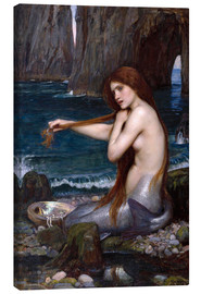 Lienzo  La sirena - John William Waterhouse