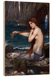 Madera  La sirena - John William Waterhouse