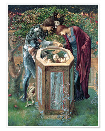 Póster  The Baleful Head - Edward Burne-Jones