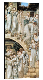 Cuadro de aluminio  La escalera dorada - Edward Burne-Jones