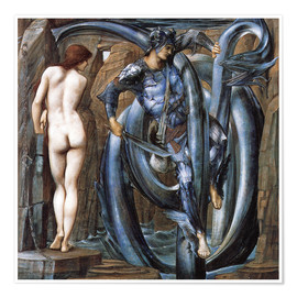 Póster  The Doom Fulfilled - Edward Burne-Jones