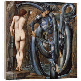 Cuadro de madera  Perseus met the fate - Edward Burne-Jones