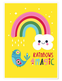 Póster  Rainbows and magic - Kat Kalindi Cameron